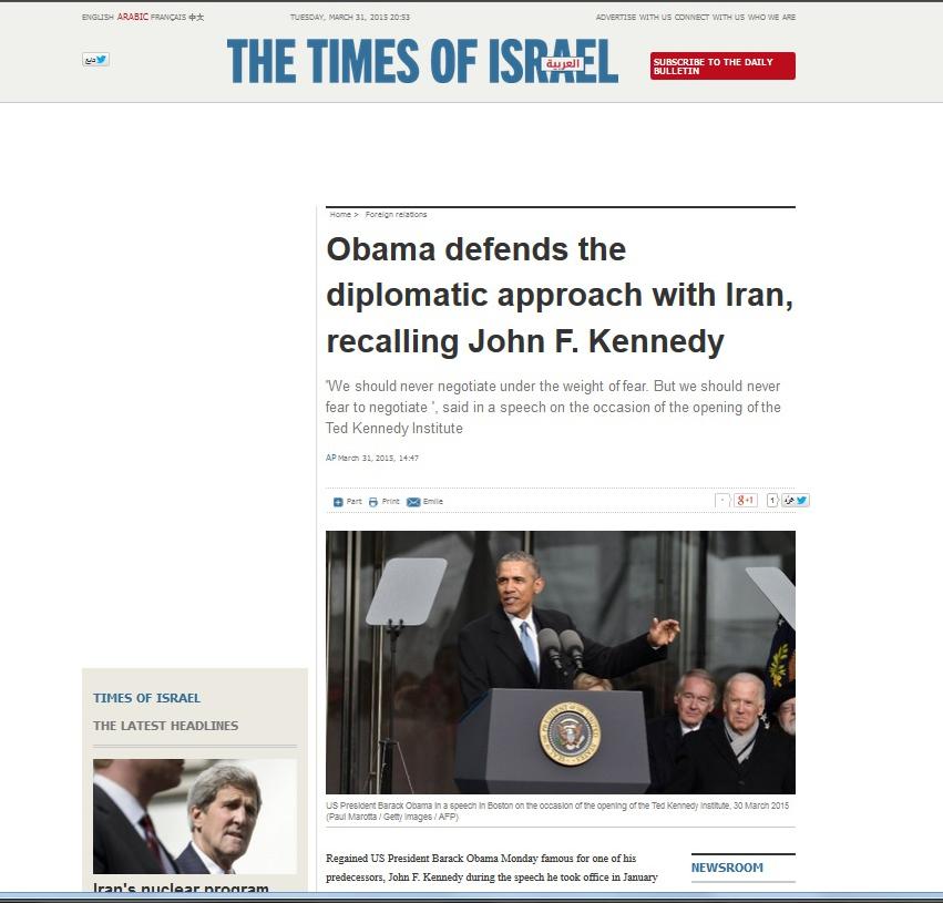 Obama Kennedy Israel Times.jpg