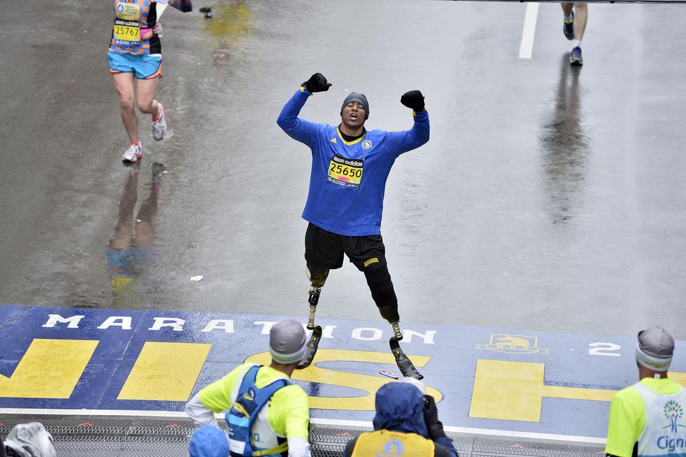 2015 Boston Marathon Finish Line