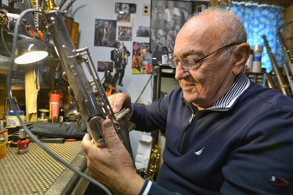 Instrument repair guru Emilio Lyons