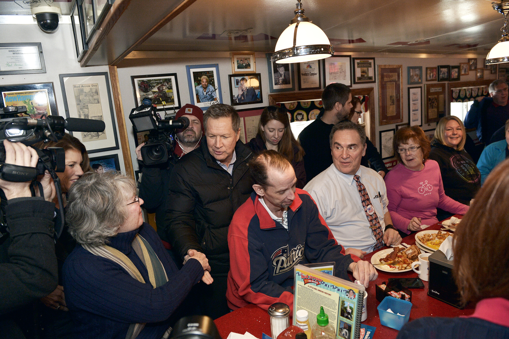 John Kasich at Red Arrow Diner
