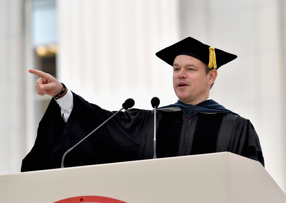 Matt Damon at MIT