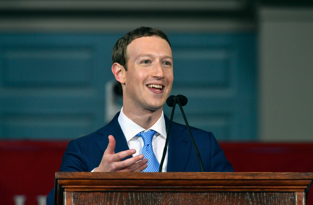 Mark  Zuckerberg at Harvard Commencement