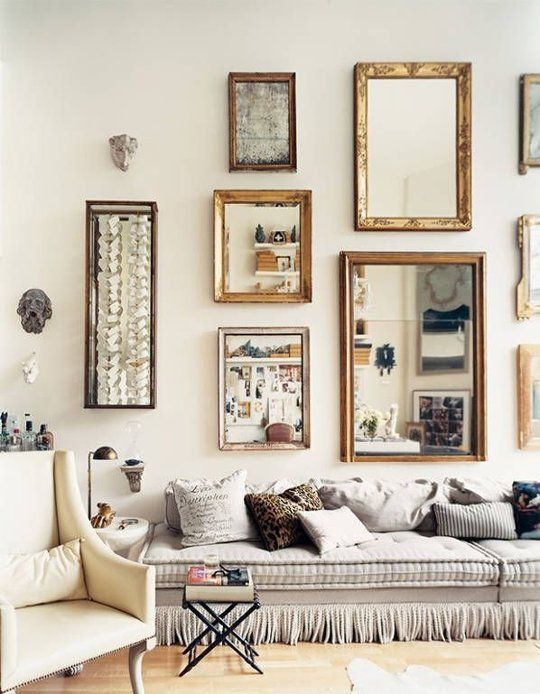 Don't have art or photography to put up? Try using mirrors