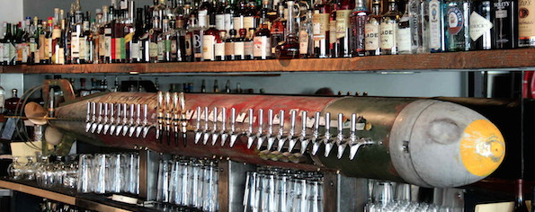 30 taps poured out of a torpedo!   http://barrelheadsf.com/