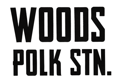 Serves locally made empanadas and beer!   http://woodspolkstation.com/