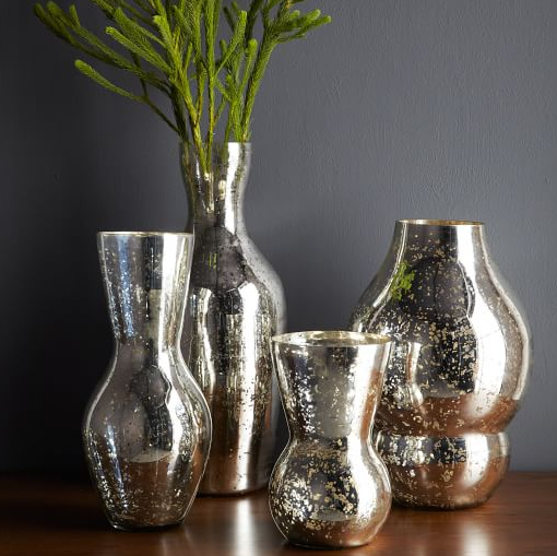 Mercury glass vases - West Elm