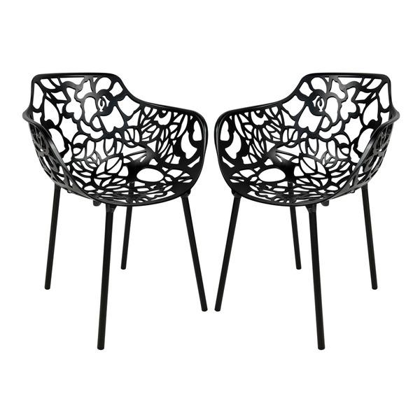 Devon Modern Black Aluminum Chair Buy it at overstock.com