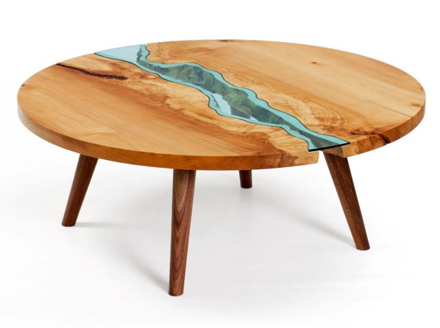 ROUND RIVER COFFEE TABLE By Greg Klassen  $6,000.00