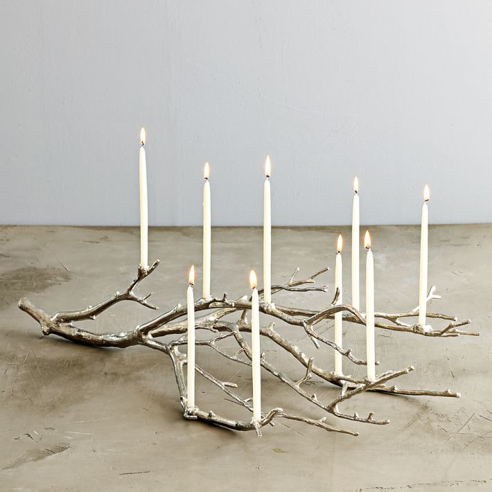Manzanita Candelabra – Silver By West Elm   Sale $59.99