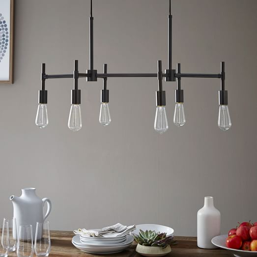 Industrial Chandelier – Rectangle By West Elm   Special $239