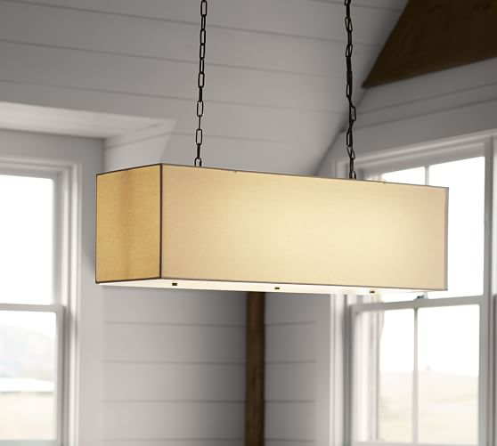 LINEN RECTANGULAR PENDANT By Pottery Barn  $499