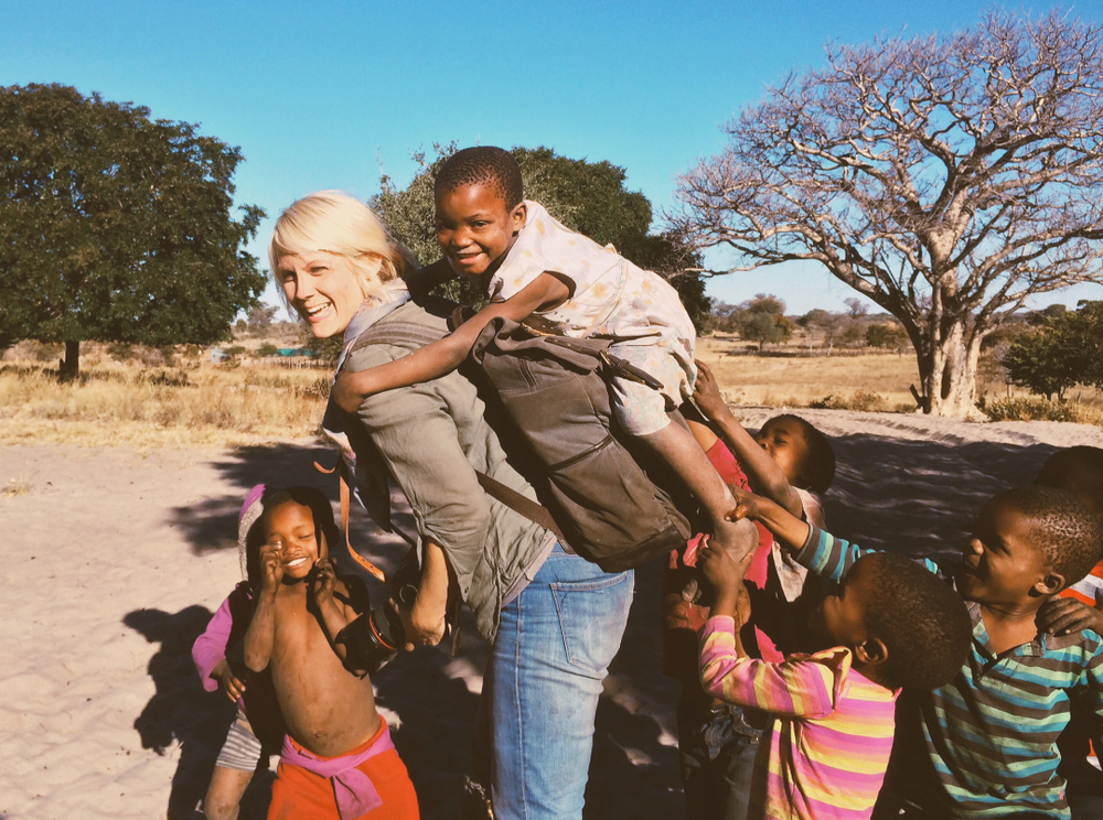 "My ONA bag was a great ""ride"" for children in Botswana :-) photo by  Kelsi Klembara"