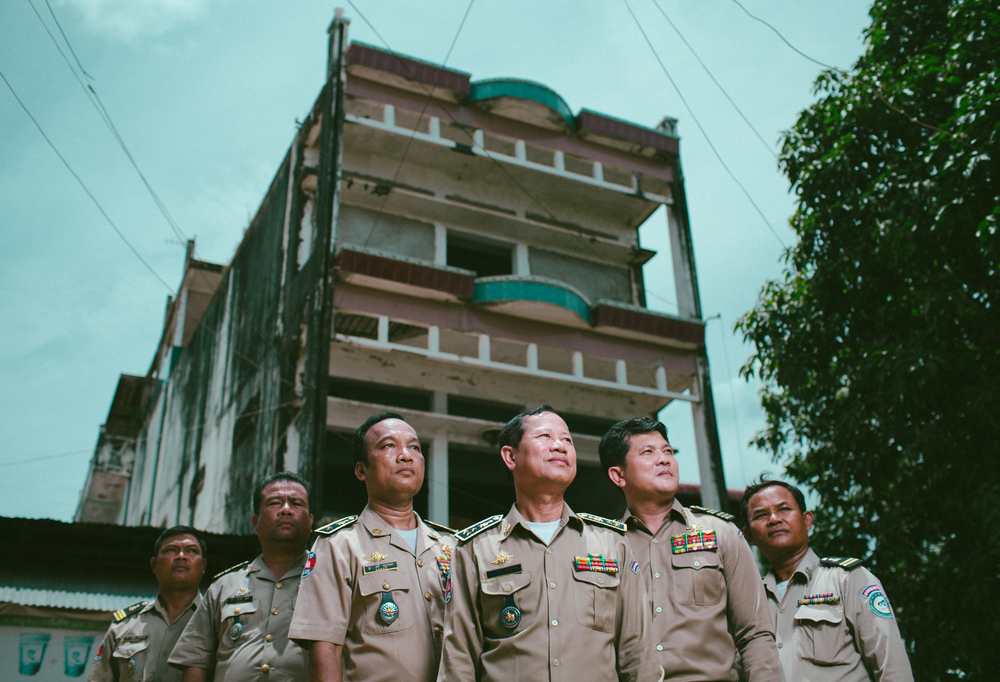 General Pol Phie They (Center) and his police units have rescued thousands of victims and stopped hundreds of traffickers and pimps from hurting children