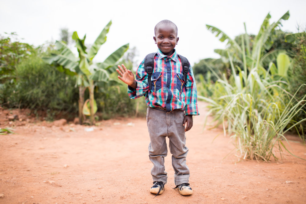 Most of Jean Bosco's siblings dropped out of school over the years because their family could not afford school fees.  When I went back to visit in 2015, I met little Samuel, Jean Bosco's youngest brother. We put him in the sponsorship program through Africa New Life and he is in now in the 1st grade. With an education he will be able to graduate, go to college, and get a job that can provide for his entire family.