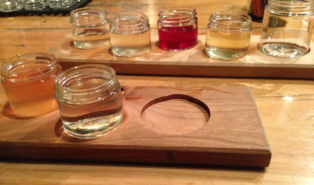Kombucha & Cider flight at Urban Farms Fermentory (200 Anderson Street)