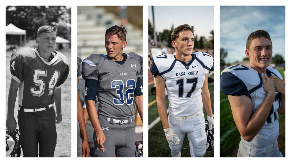 Ryan- all 4 years of football, starting with Freshman year.