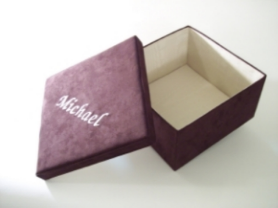 Custom Embroidered Keepsake Box