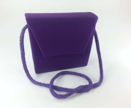 Nina - Wool Crepe Handbag w/ Hand Crocheted Strap