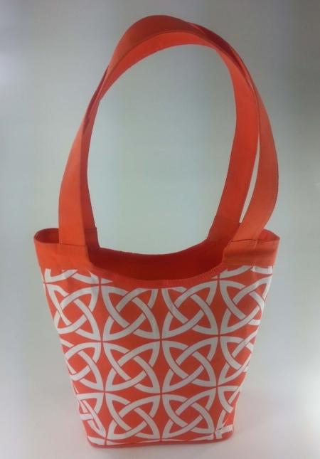 Orange and White Print Tara Tote