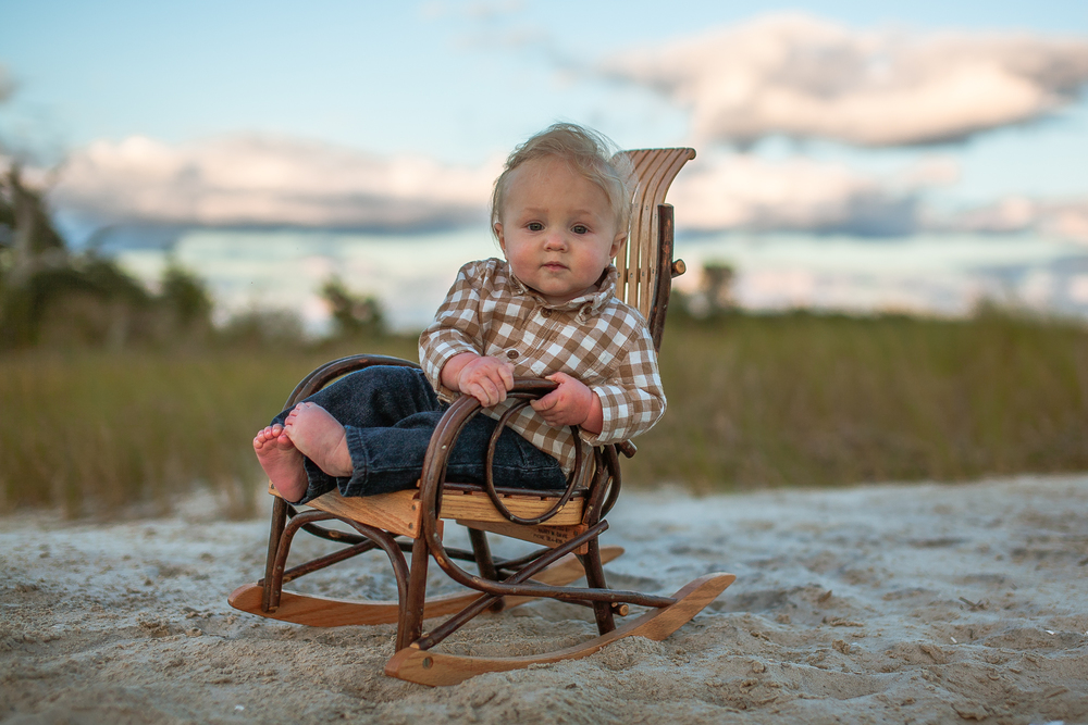 Family Photography -  On the Beach in Pinteresting Chair