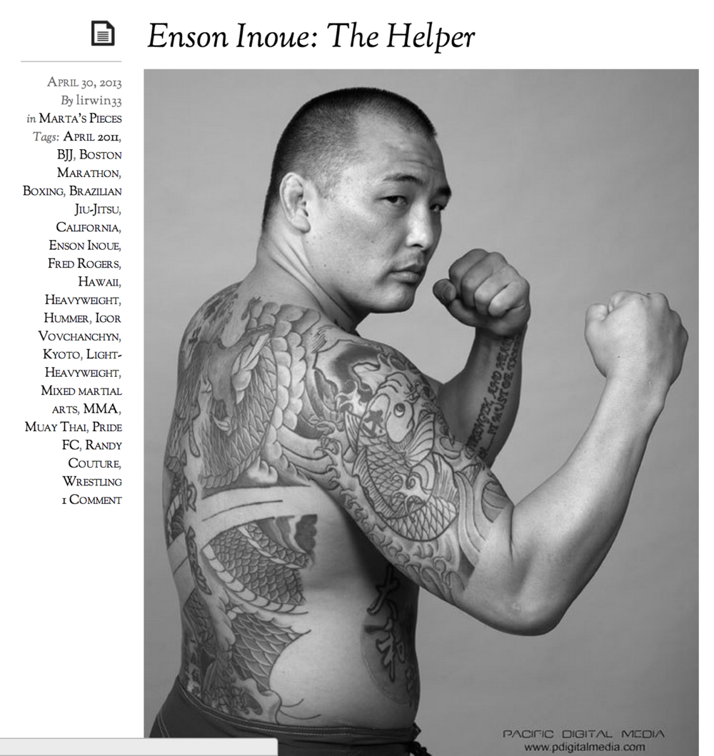 Enson Inoue: The Helper By Marta Gallo April 30, 2013