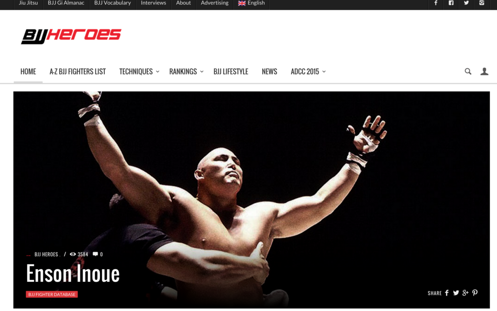 BJJ Heroes - BJJ Fighter Database - Enson Inoue