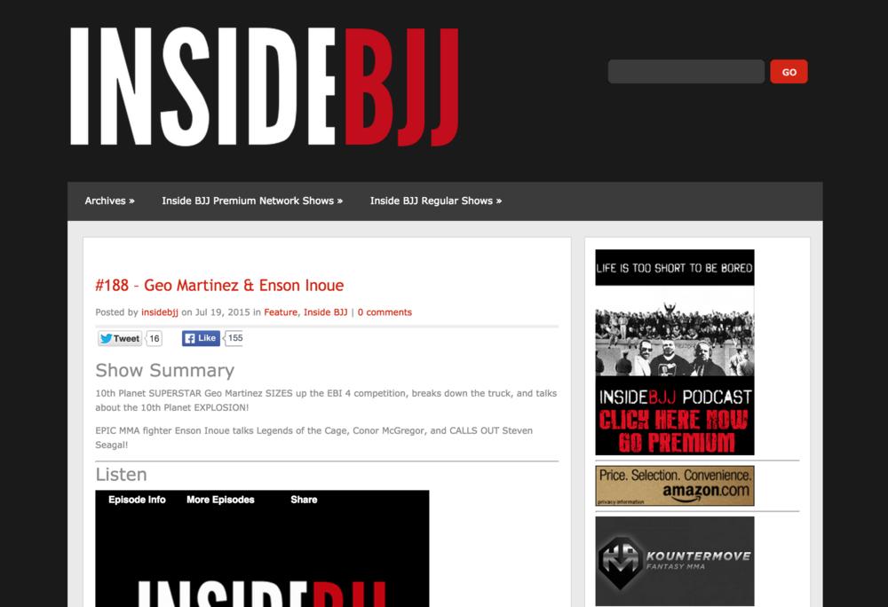 Inside BJJ Podcast #188 - Geo Martinez & Enson Inoue