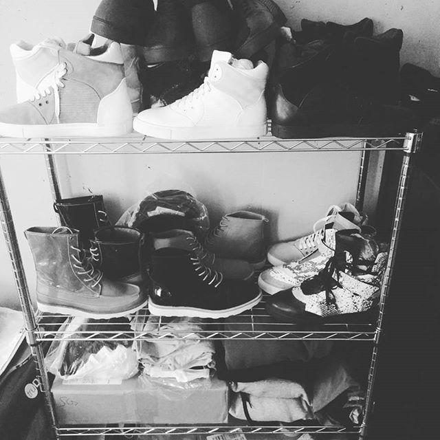Racks on racks. Footwear samples. #shoeporn