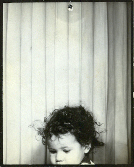 Disappearing child inside photobooth