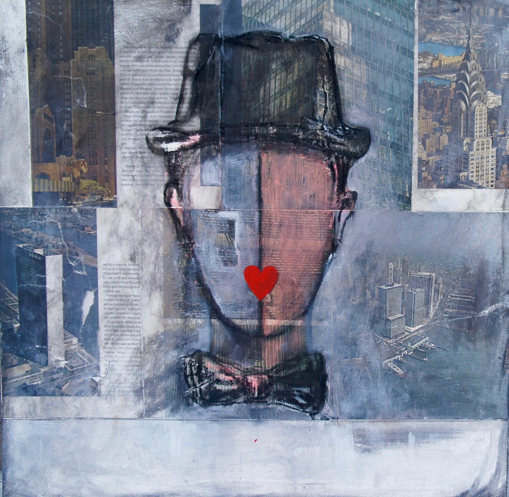 Manhattan  • 24 X 24 • mixed media