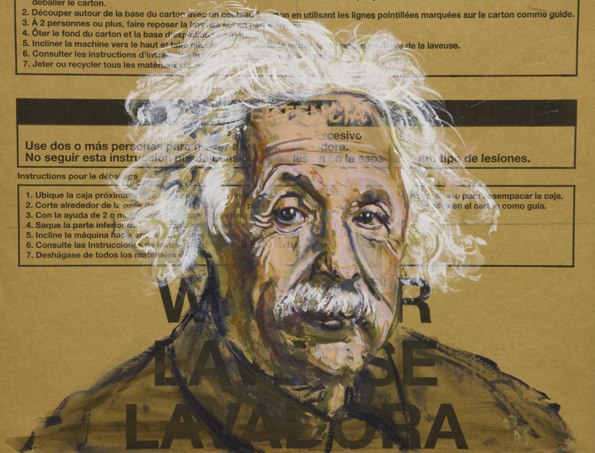 Dishwasher VII (Einstein) • 21 X 27 • 2012 • Acrylic on Cardboard