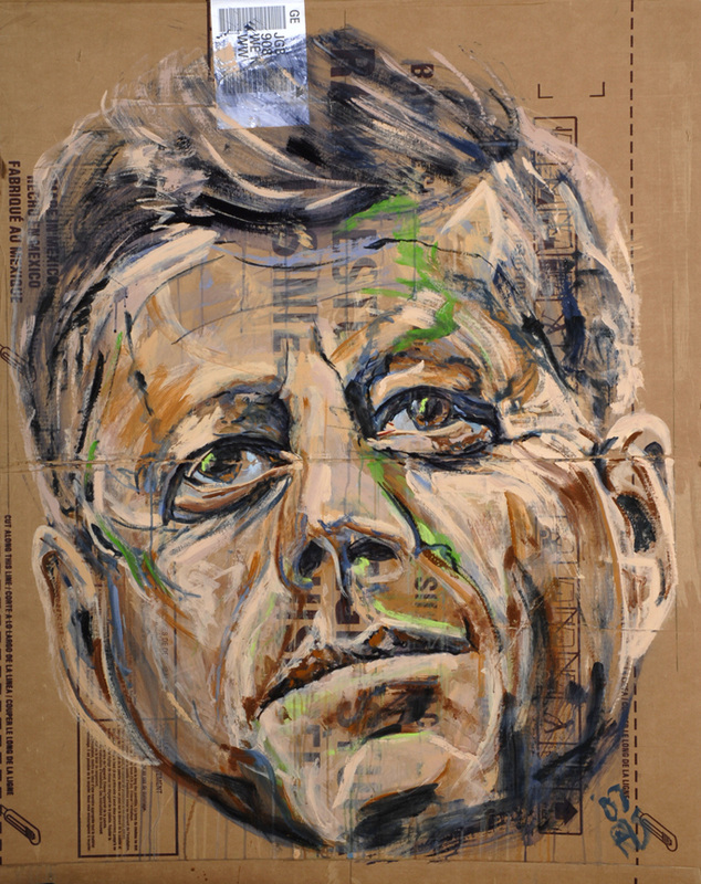 Box II (Kennedy) • 61 X 49 • 2012 • Acrylic on Cardboard
