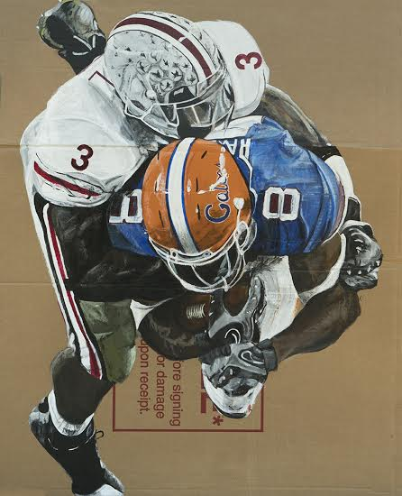 Football  • 39 X 31 • Acrylic on Cardboard