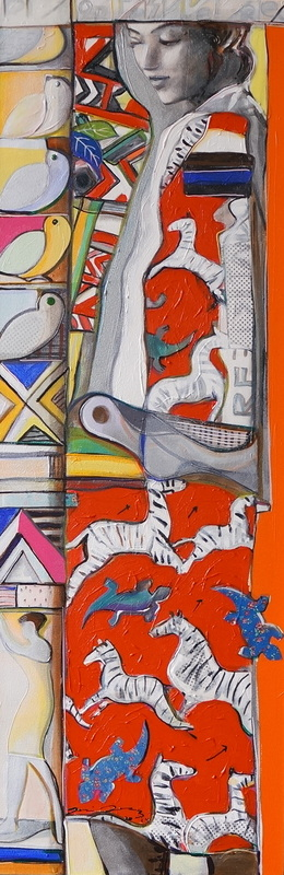 SOLD /// Afrika • 59 X 20 • Mixed Media