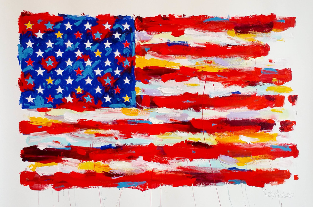 FLAG • 24 X 40 • Acrylic on Canvas