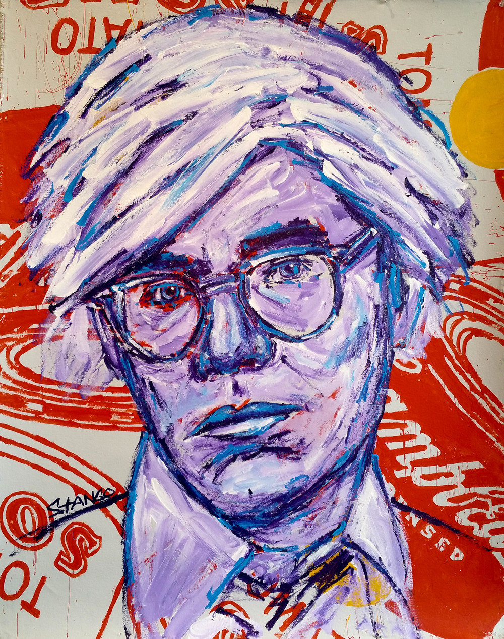 Andy Warhol on Soup • 40 X 30 • Acrylic on Canvas