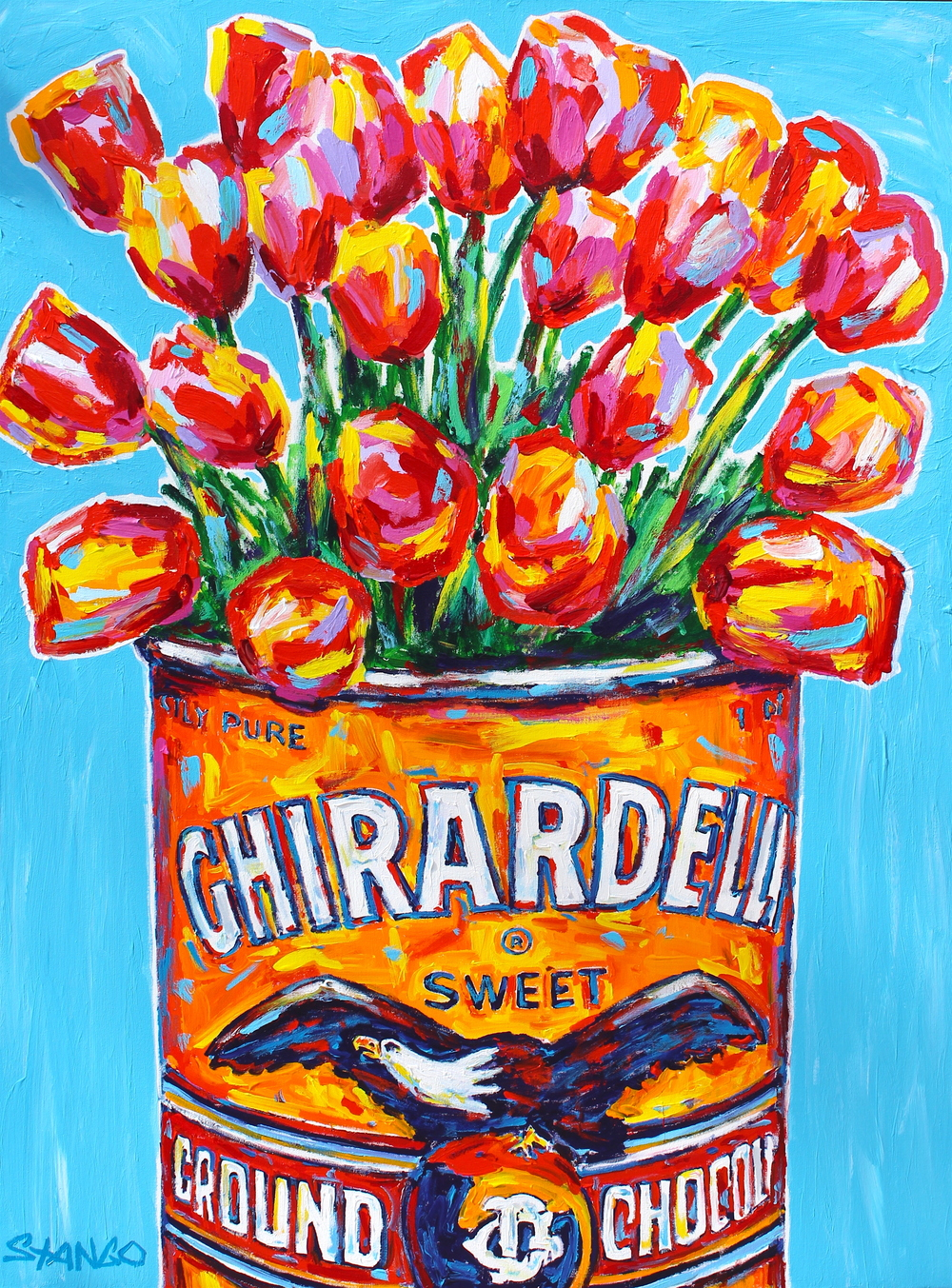 Ghirardelli Flowers • 48 X 36 • Acrylic on Canvas