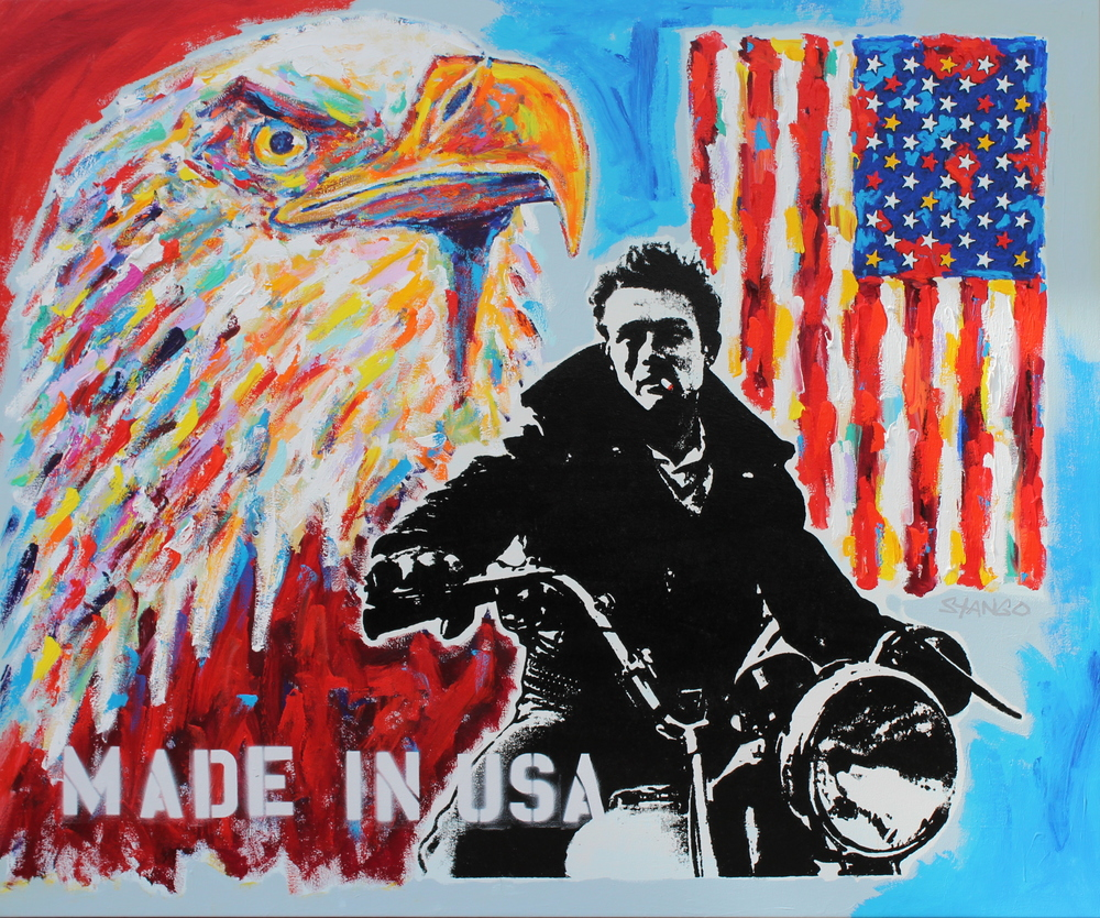 American Badass • 64 X 50 • Acrylic on Canvas