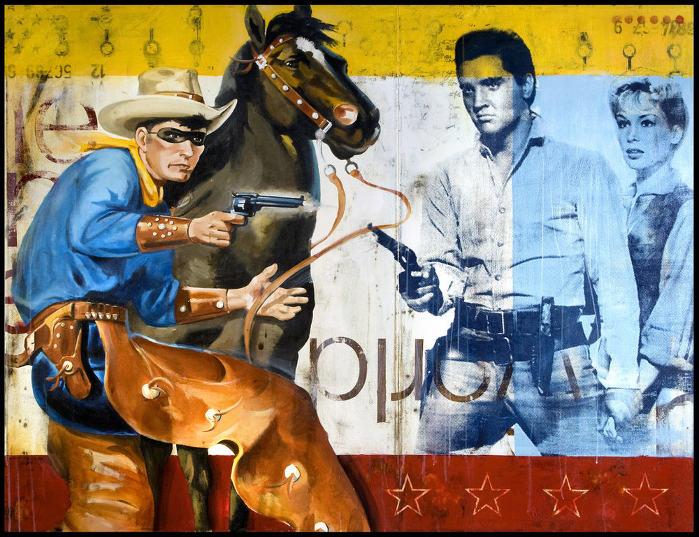 WESTERN KINGS // 50 X 65 • MIXED MEDIA ON PANEL WAS $9,000 // NOW $7,200