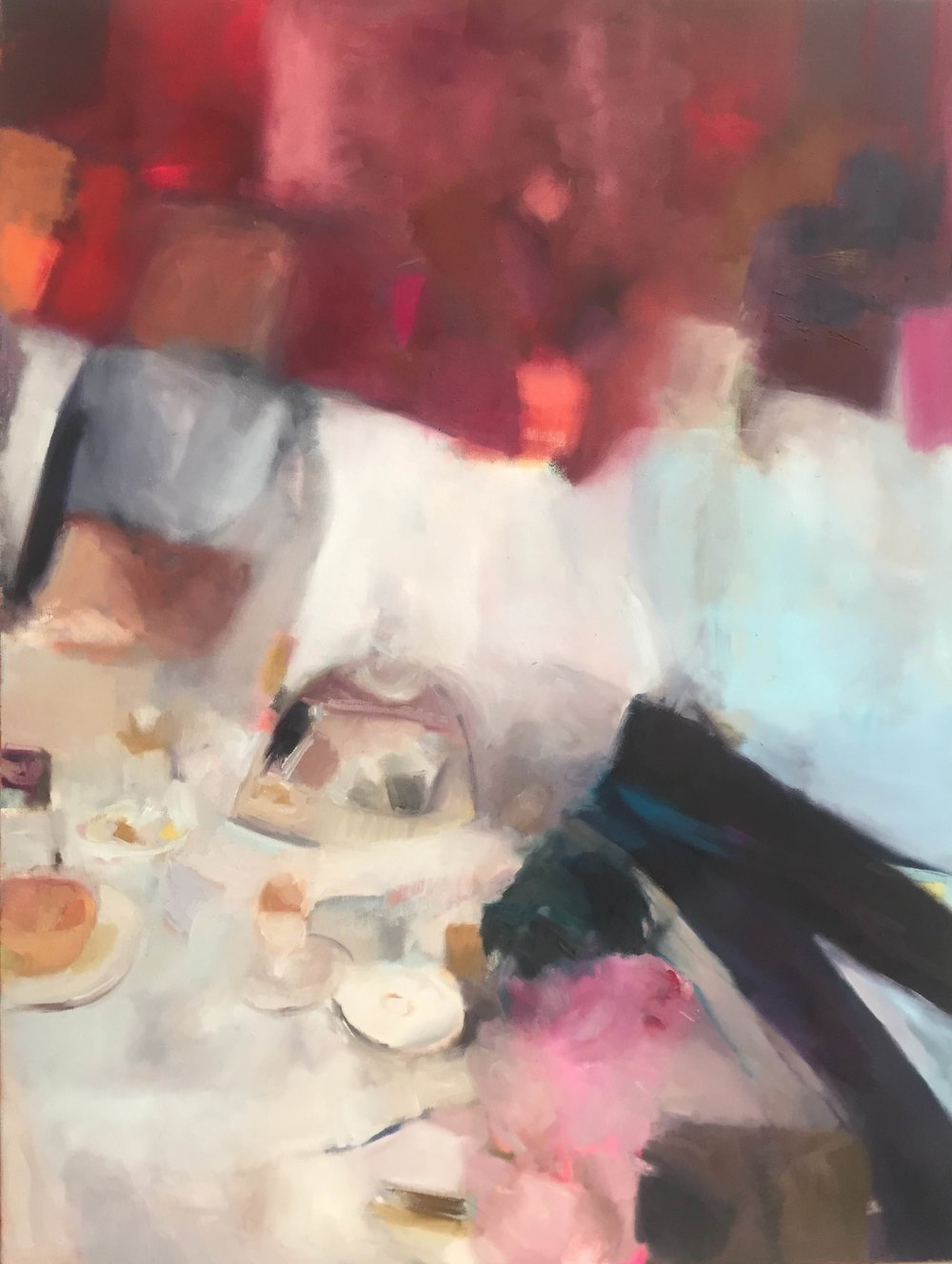 breakfast in bed • 58 X 44 • oil on canvas