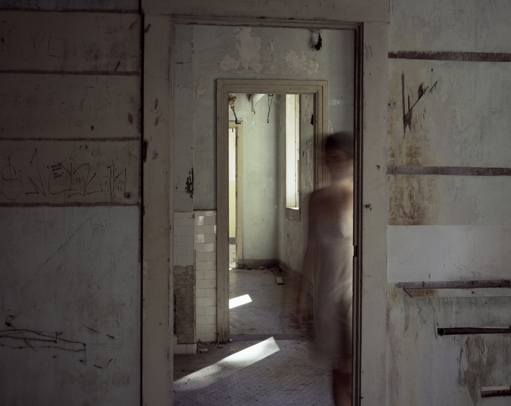 Multiple Doorways  • 28 X 36 • photographs on fabric // dual layered •  $1,500
