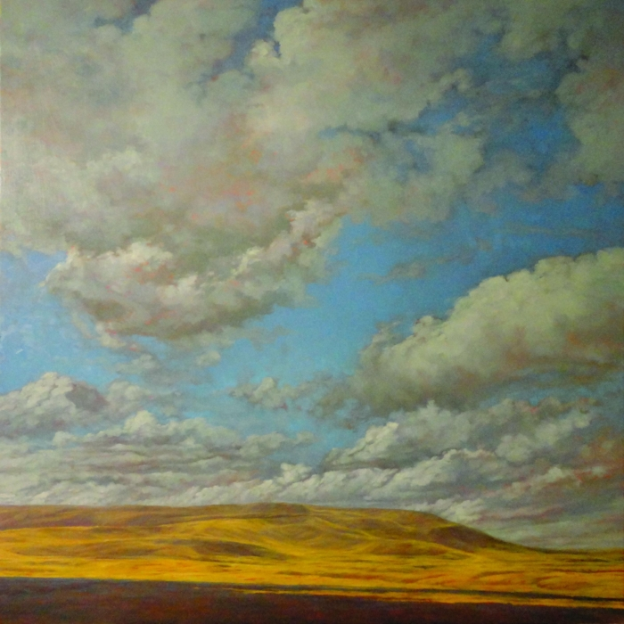 2015,Brown,_Highway 5 Clouds_, 60x60, oil on canvas, $4,200.jpg