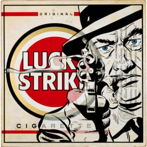 Lucky Strike • 24 X 24 X 2 • Aerosol on Birch Wood Panel // $850