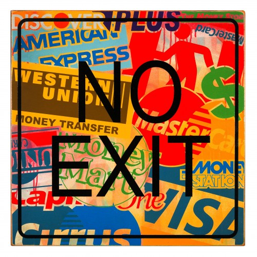 No Exit • 24 X 24 X 2 • Aerosol on Birch Wood Panel // $850