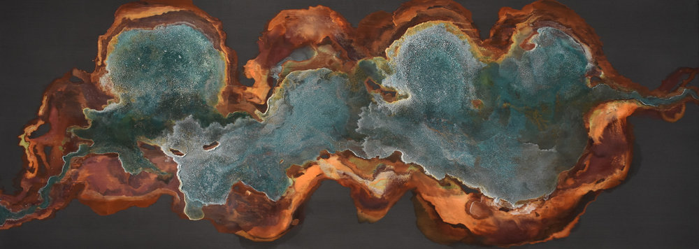 SOLD /// Winnow • 30 X 84 • mineral on panel