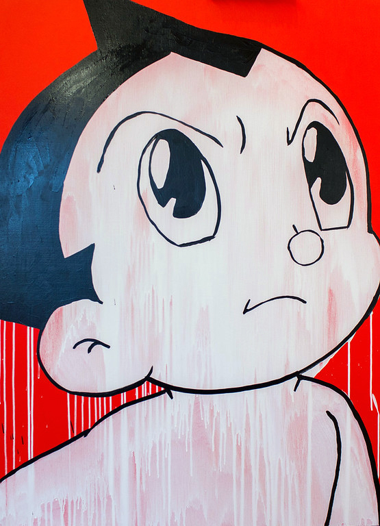 SOLD /// Astro Boy • 48 x 36 • acrylic, aerosol, resin