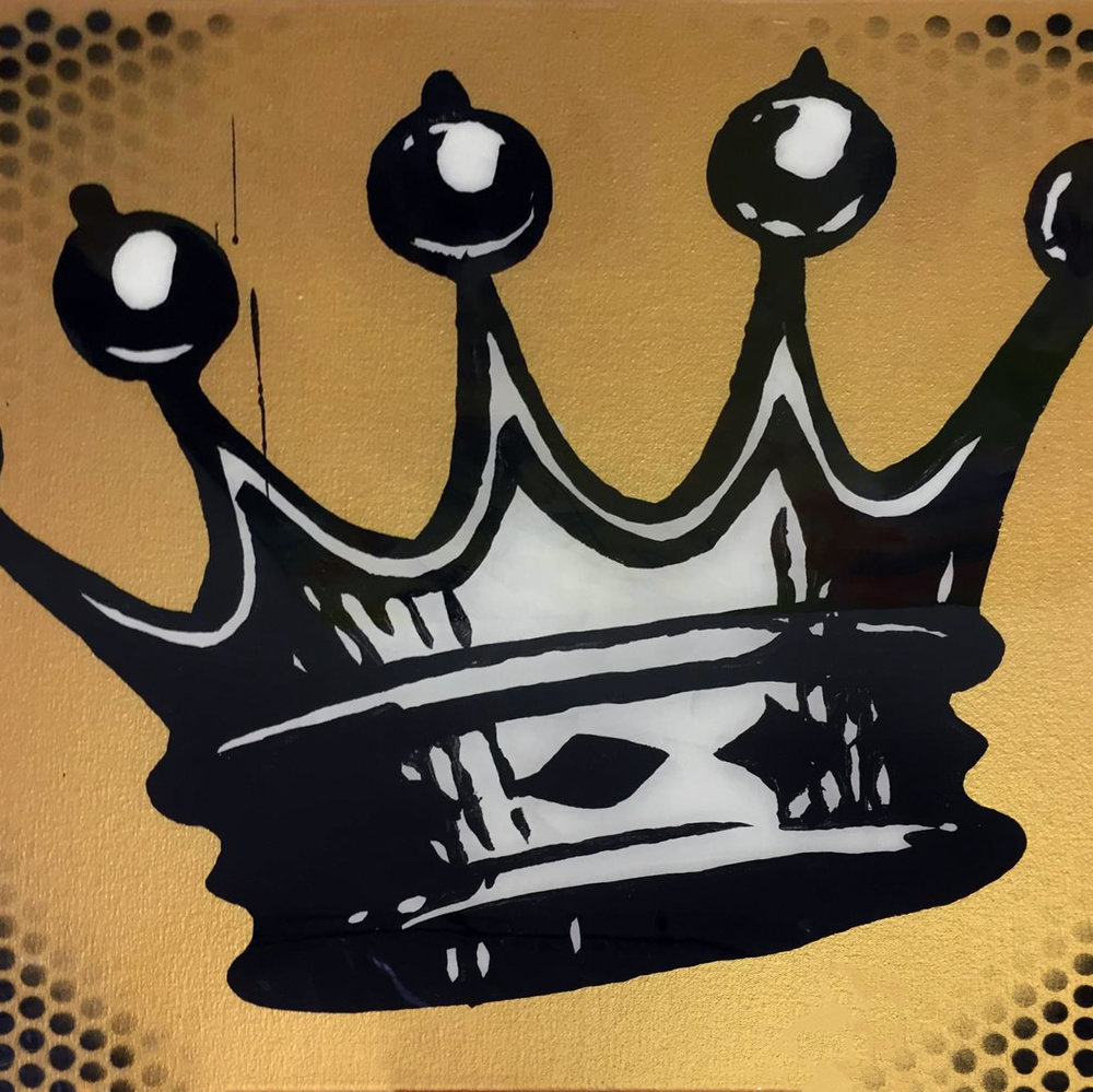 SOLD /// Crown • 24 x 24 • acrylic, aerosol, resin