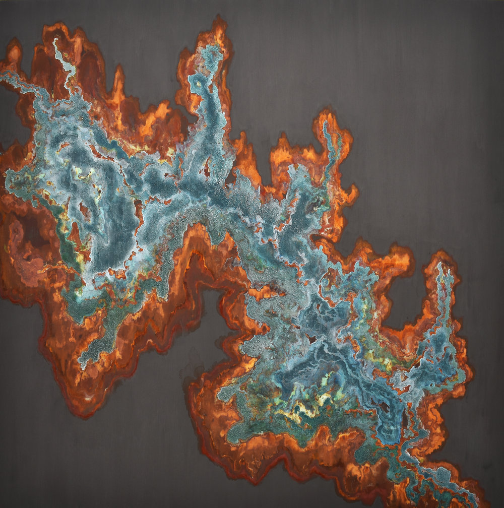 SOLD // Genesis | 84 X 84 | mineral on panel