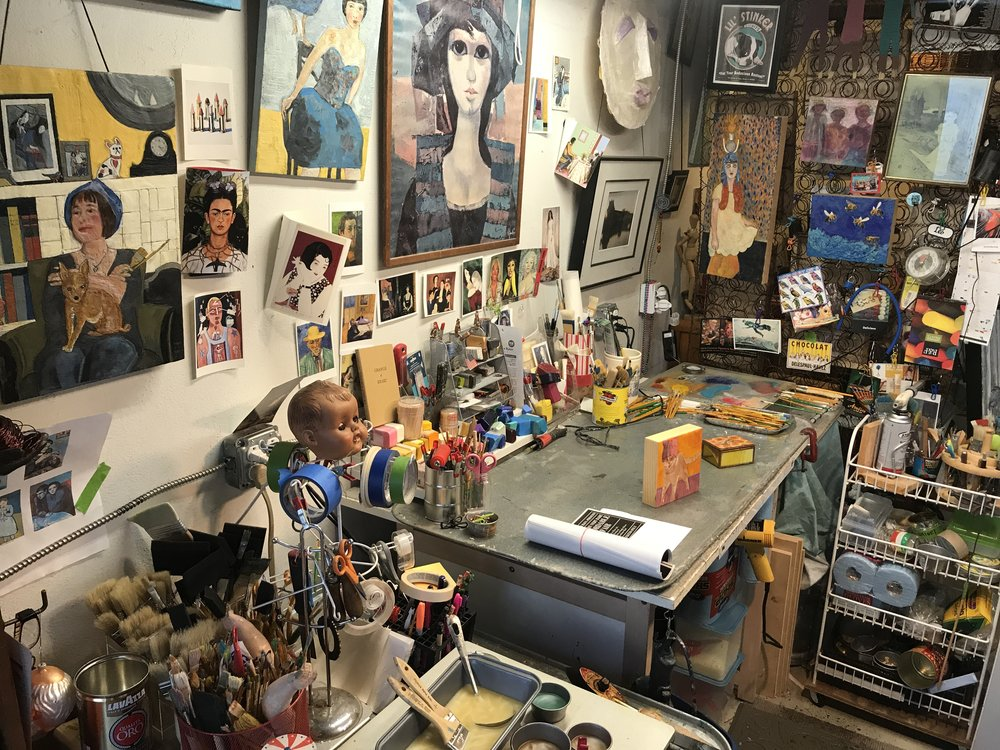 INSIDE THE ARTIST'S SARATOGA STUDIO