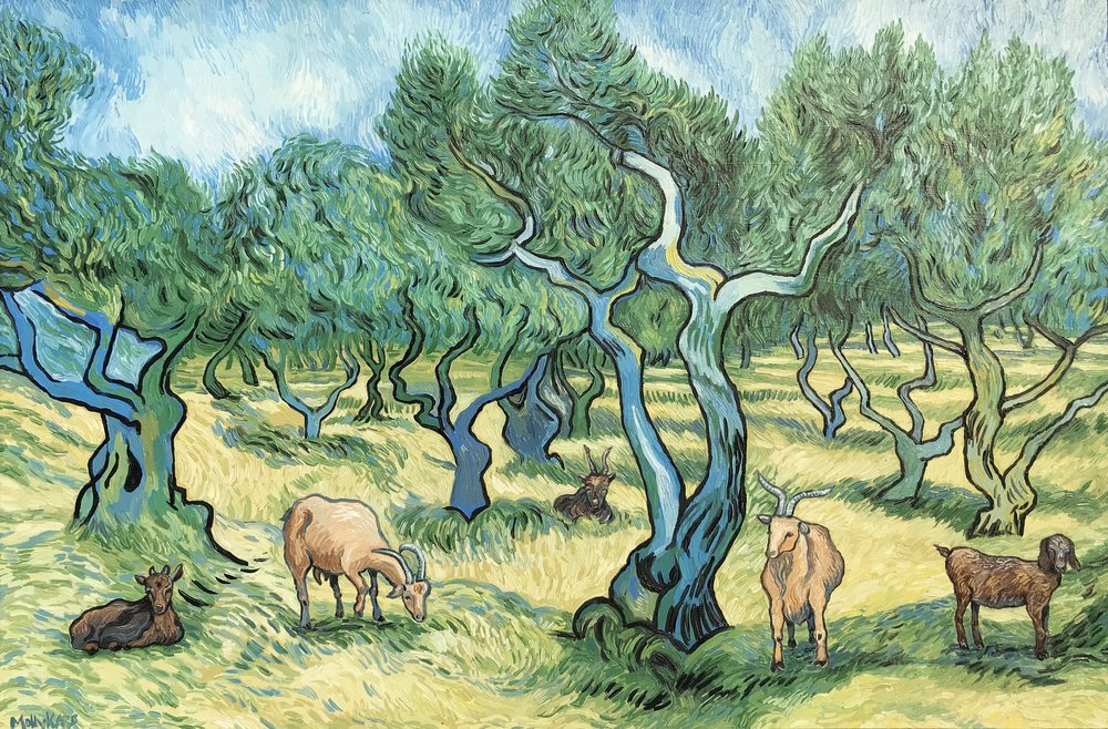 SOLD /// The Olive Trees• 24 x 36 • oil on board • $2,200